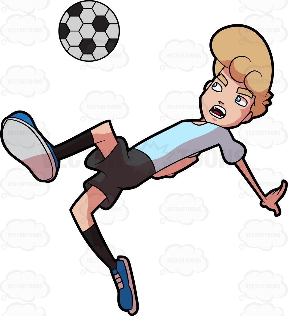 935x1024 A Man Jumps And Leans Down To Kick A Soccer Ball Soccer Ball