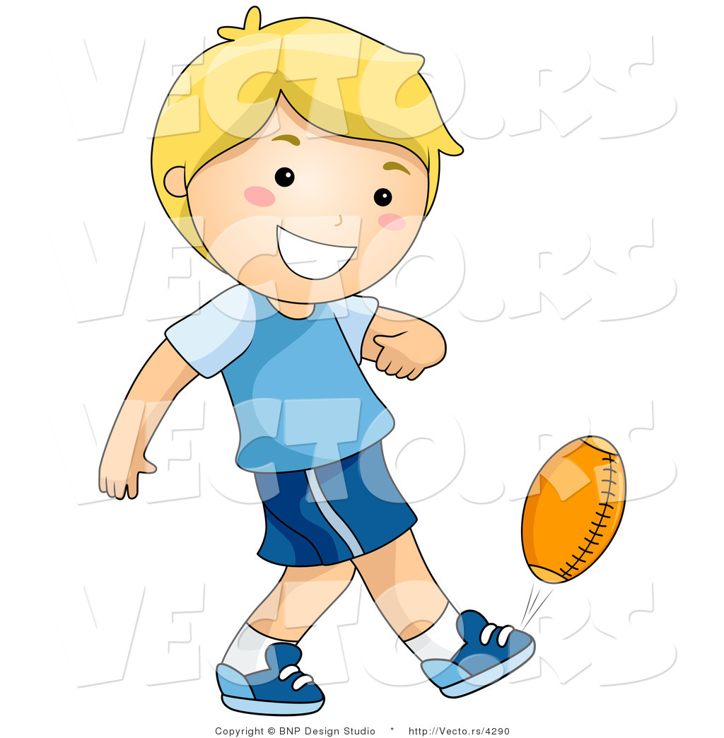 1024x1044 Vector Of Happy Boy Kicking Football By Bnp Design Studio