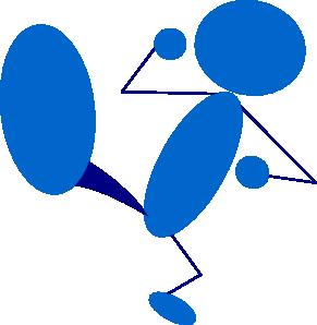 291x298 Blueman Kicking Clip Art