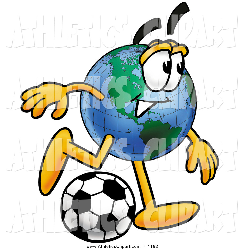 1024x1044 Clip Art Of An Athletic World Earth Globe Mascot Cartoon Character