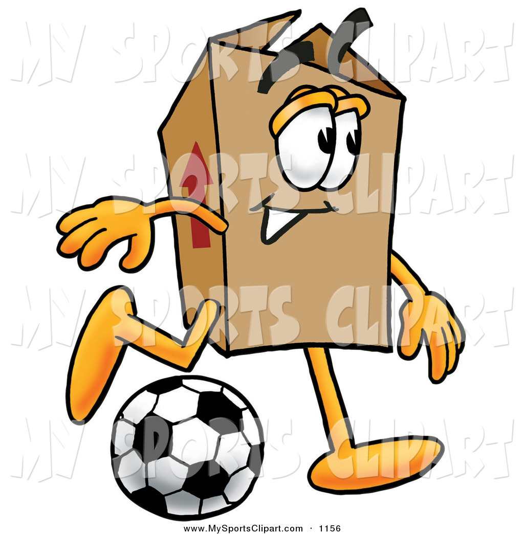 1024x1044 Sports Clip Art of a Smiling Cardboard Box Mascot Cartoon