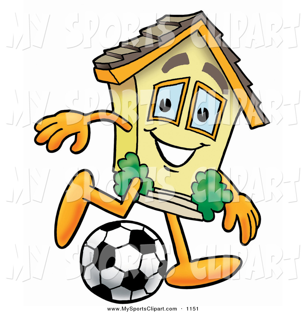 1024x1044 Sports Clip Art Of A Smiling House Mascot Cartoon Character