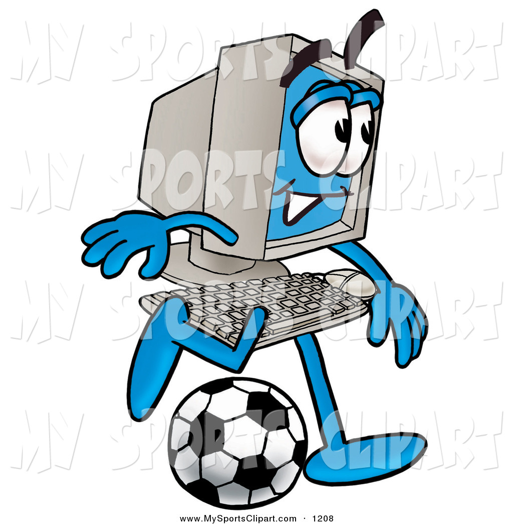 1024x1044 Sports Clip Art Of A Sporty Desktop Computer Mascot Cartoon
