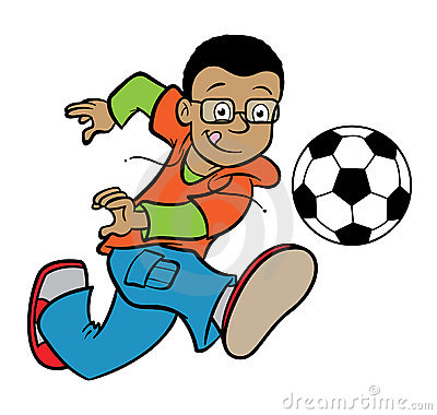 400x380 Boy Kicking Soccer Ball Clipart