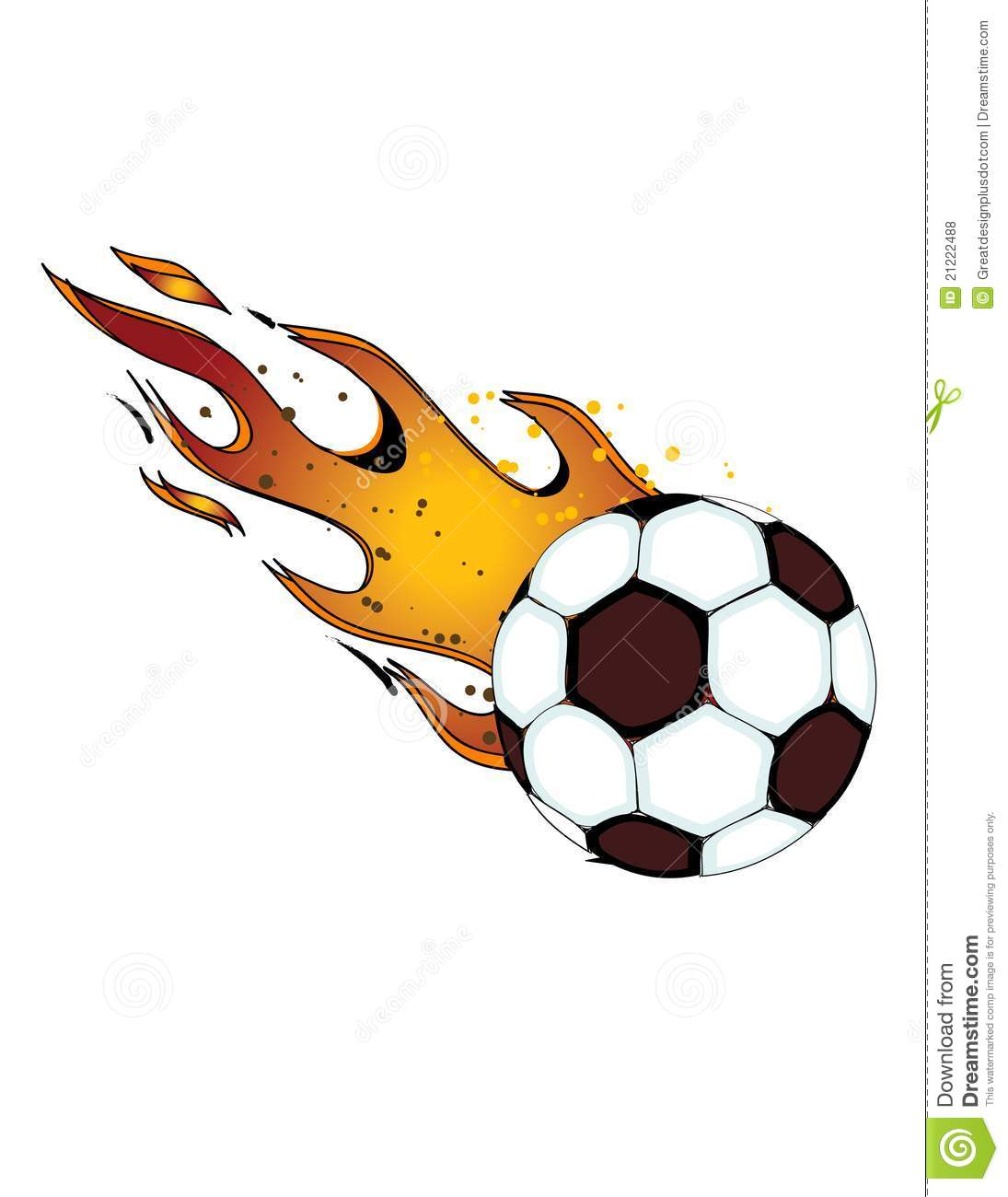1095x1300 Flaming Soccer Ball Clipart