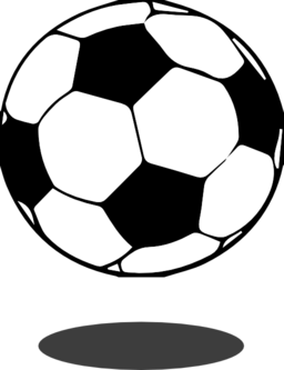 256x333 Kicking Soccer Ball Clipart
