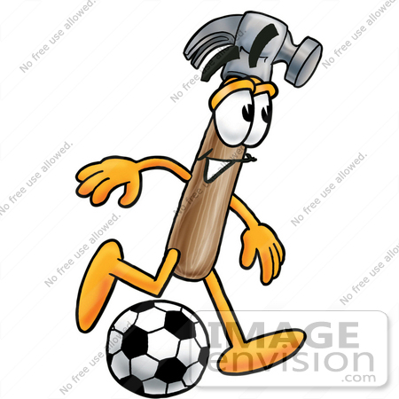 450x450 Cliprt Graphic Of Hammer Tool Cartoon Character Kicking