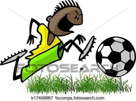 450x336 Clip Art Of Youth Soccer Player K17456967