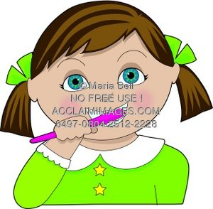 Kid Brushing Teeth Clipart