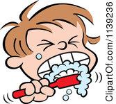 167x150 Clipart Kids Brushing Teeth