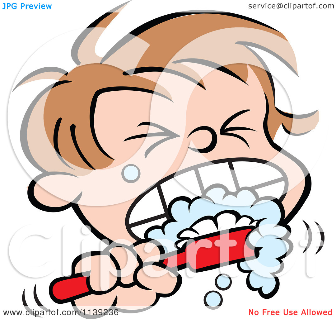 1080x1024 Boy Brushing Teeth Clipart