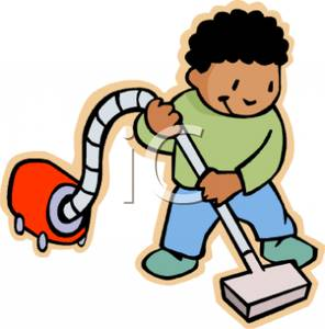 296x300 Boy Cleaning Clipart