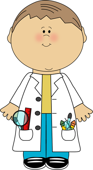 302x550 Kid Scientist Clip Art