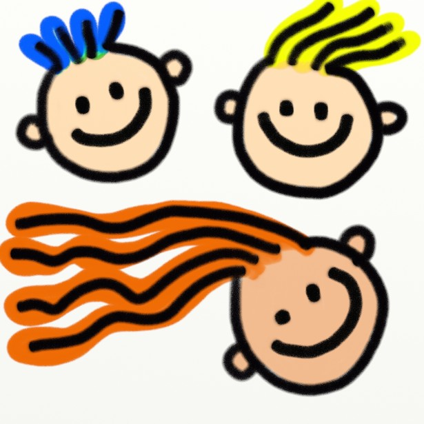 615x615 Kids Faces Clipart Free Stock Photo