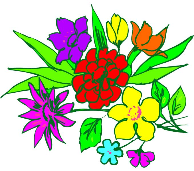 680x600 Bunch Of Flowers Clip Art Free