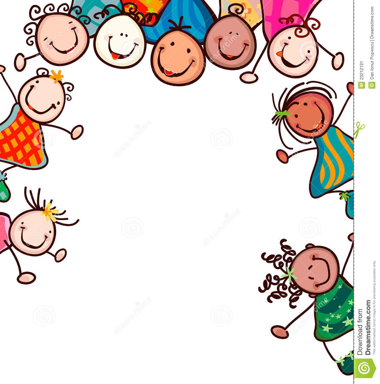 1286x1300 Kids Smiling Stock Image