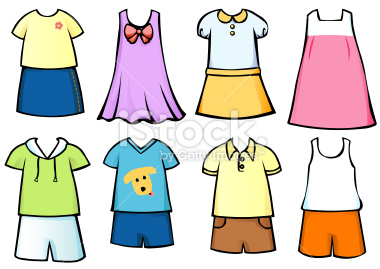 380x269 Kids Clothes Clipart