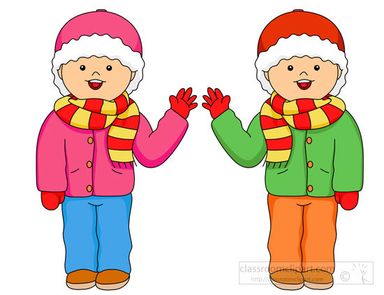 550x422 Winter Clothes Clipart