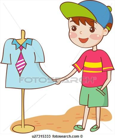 386x470 Boy Clothes Shopping Clipart