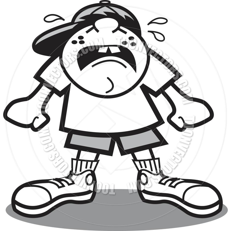 940x940 Cartoon Kid Crying Vector Illustration By Clip Art Guy Toon