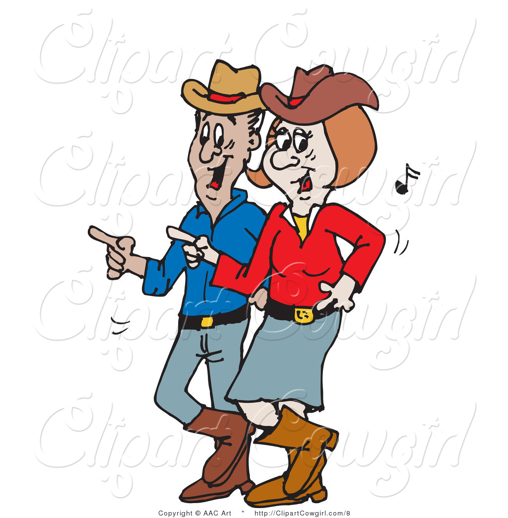 1024x1044 Vector Clipart Of A Cowboy And Cowgirl Line Dancing By Dennis