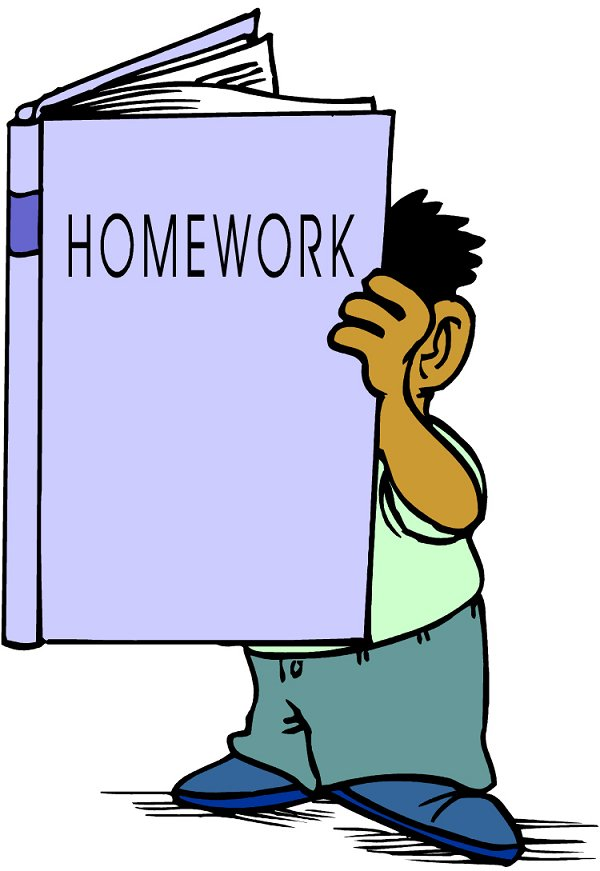 600x871 Doing Homework Read Book Homework Clipart Cliparts And Others Art