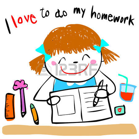 450x450 Homework Clipart Cute