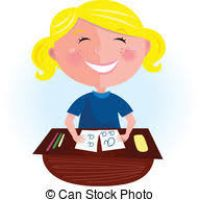 200x200 Kid Doing Homework Clipart
