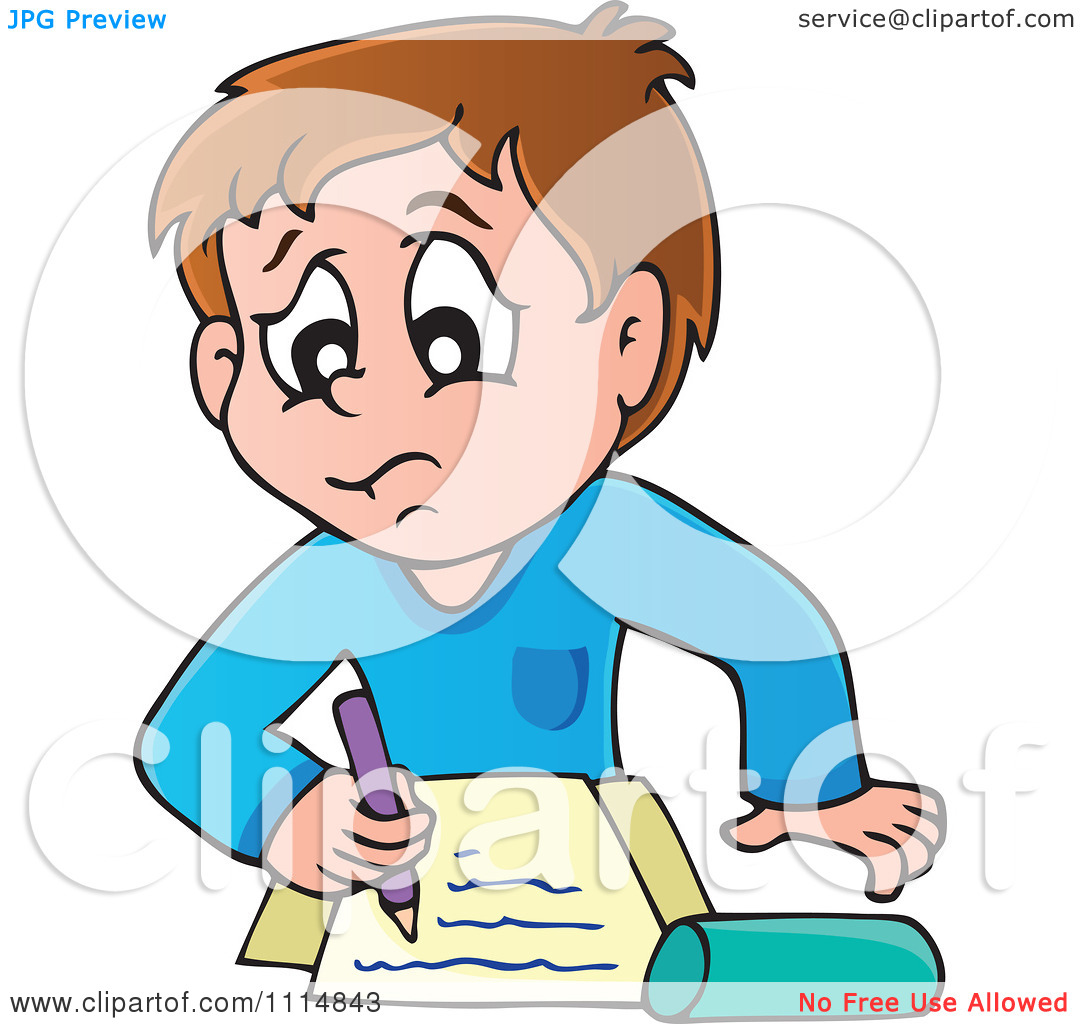 1080x1024 Boy Doing Homework Clipart