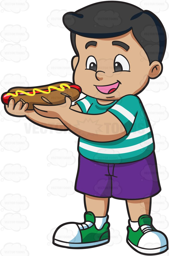 Kid Eating Clipart