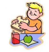 172x180 Clipart Of Kids Eating
