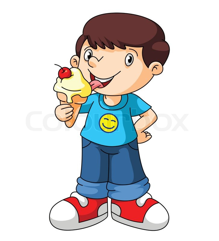 727x800 Eating Ice Cream Clipart