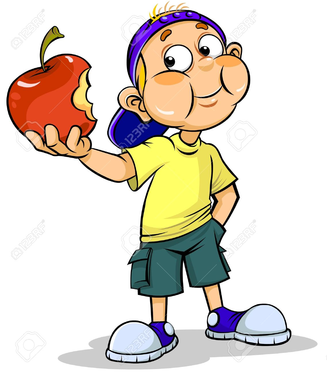 1137x1300 Kid Eating Apple Clipart