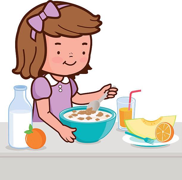 612x604 Kid Eating Breakfast Clipart 101 Clip Art