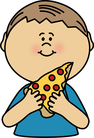 306x450 Kid Eating Pizza Clip Art