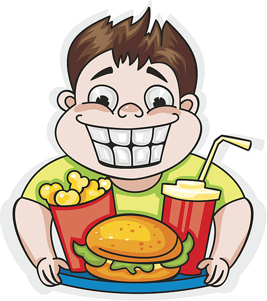 543x612 Kids Eating Junk Food Clipart
