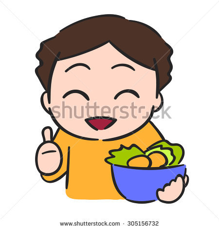 450x470 Child Eating Vegetables Clipart