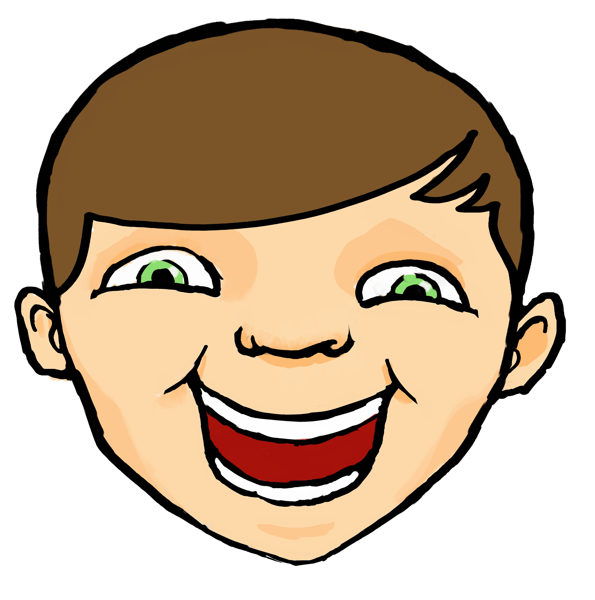 2480x2501 Happy Face Kid Clipart