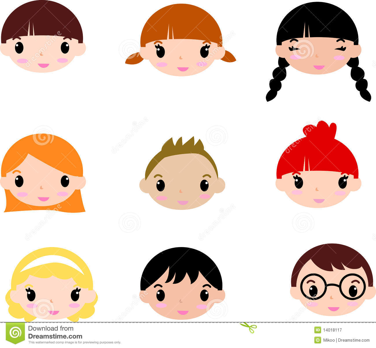 1300x1206 Kids Faces Clip Art