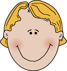 282x299 Ponytail Clipart Kid Face