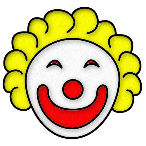 500x500 Circus Joker Face Clipart