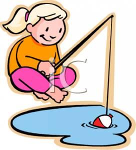 272x300 Girl Fishing Clipart