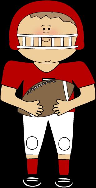 309x603 Cute Football Player Clipart