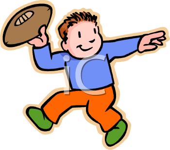 350x310 Little Boy Clipart Football Player