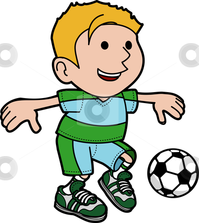 402x450 Playing Soccer Clipart