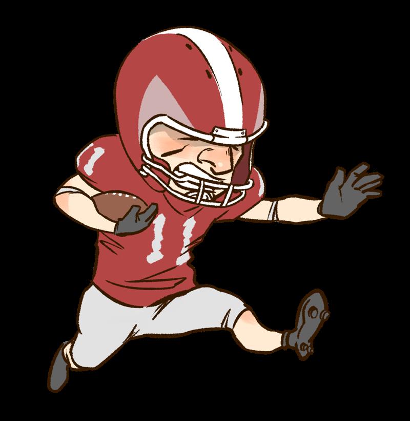 800x820 American Football Player Clipart Kid