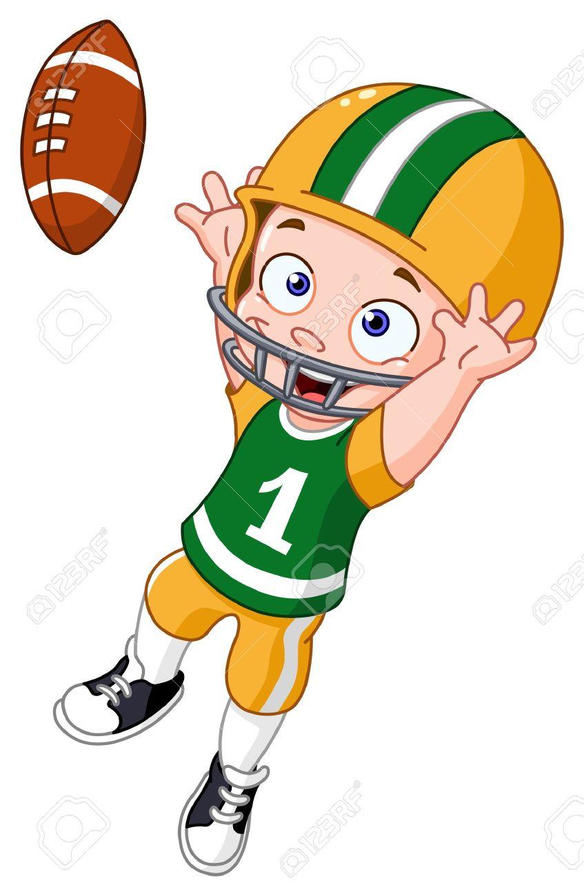 847x1300 A Boy Playing Football Clipart