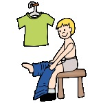 150x150 Boy Getting Dressed Clipart