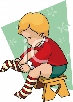 252x350 Boy Getting Dressed Clipart
