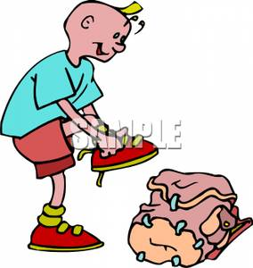 284x300 Boy Getting Ready For School Clipart Picture